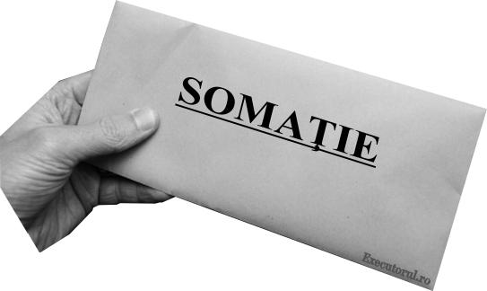 Somatii si titluri executorii