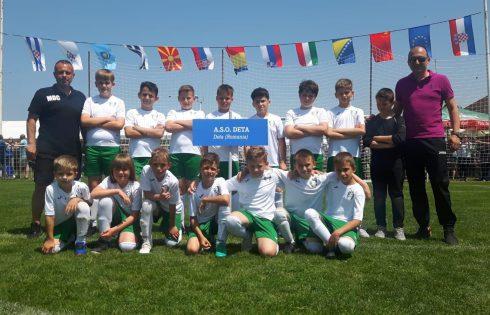 Tinerii fotbaliști de la ASO Deta au trecut cu brio testul primului turneu internațional