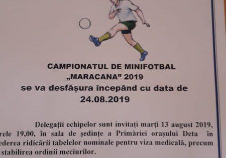 Anunț Campionatul Maracana 2019