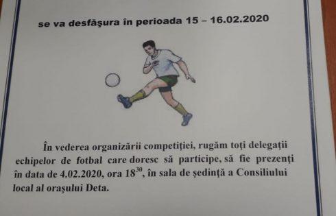 """Pregătirea Cupei """"Mihai Mărgineanțu"""" 2020"""