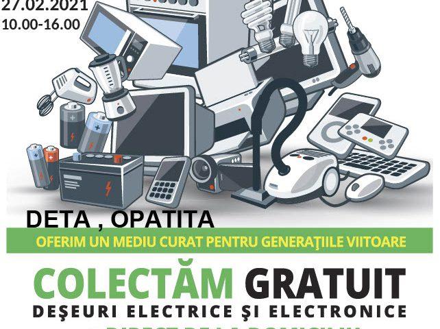 Colectare gratuită de deșeuri electrice